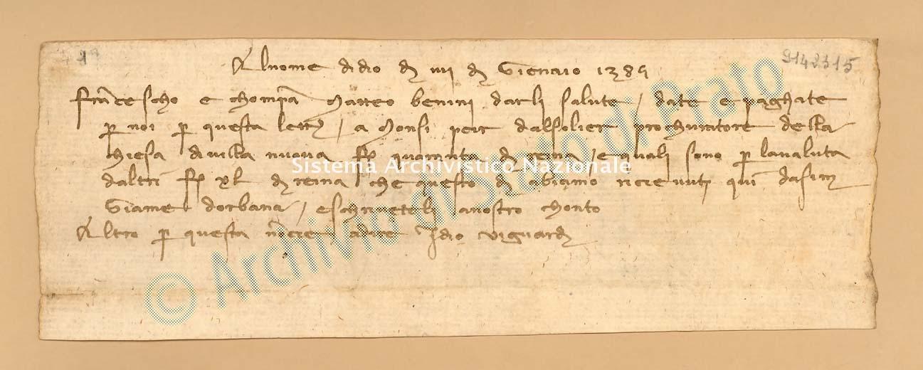 Archivio di Stato di Prato, Fondo Datini, Carteggio specializzato, Lettere di cambio, Fondaco di Avignone, Proveniente Da Arles (busta 1142, inserto 2, codice 9142315)