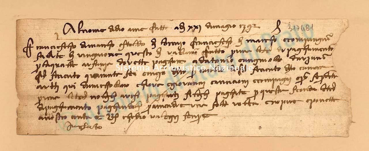 Archivio di Stato di Prato, Fondo Datini, Carteggio specializzato, Lettere di cambio, Fondaco di Avignone, Proveniente Da Avignone (busta 1142, inserto 12, codice 317481)