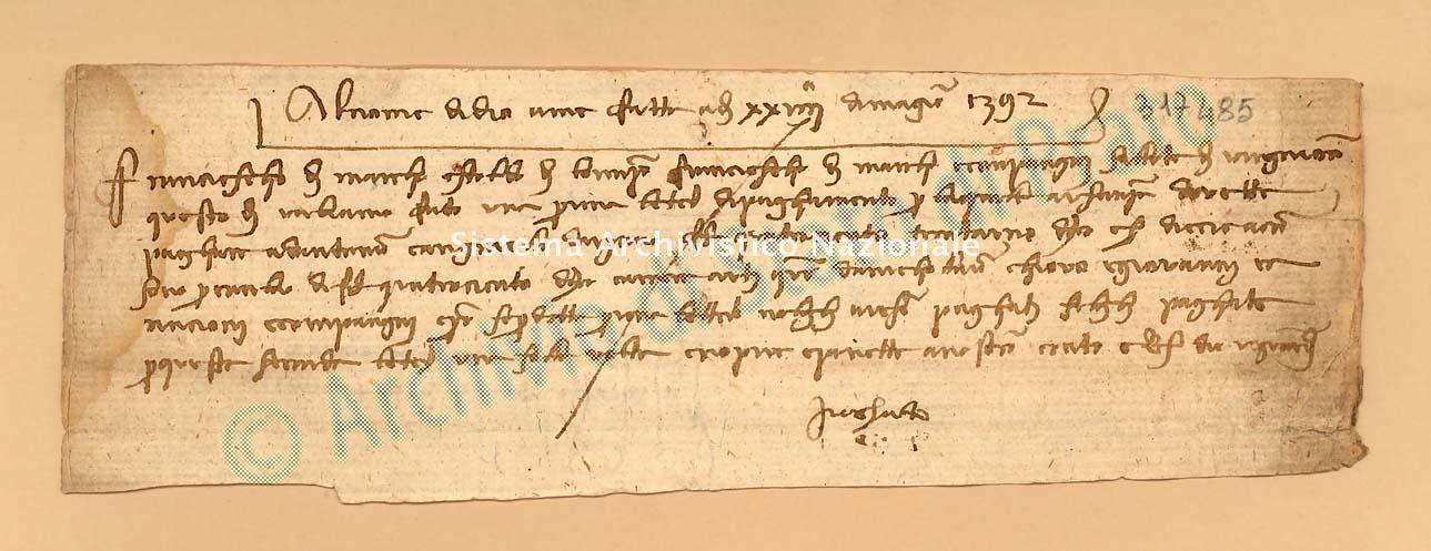 Archivio di Stato di Prato, Fondo Datini, Carteggio specializzato, Lettere di cambio, Fondaco di Avignone, Proveniente Da Avignone (busta 1142, inserto 12, codice 317485)
