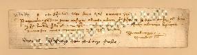 Archivio di Stato di Prato, Fondo Datini, Carteggio specializzato, Lettere di cambio, Fondaco di Avignone, Proveniente Da Genova (busta 1142, inserto 74, codice 317474)