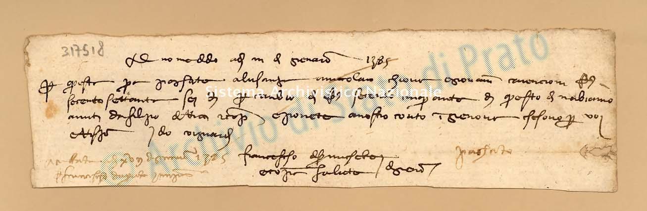 Archivio di Stato di Prato, Fondo Datini, Carteggio specializzato, Lettere di cambio, Fondaco di Avignone, Proveniente Da Genova (busta 1142, inserto 76, codice 317518)