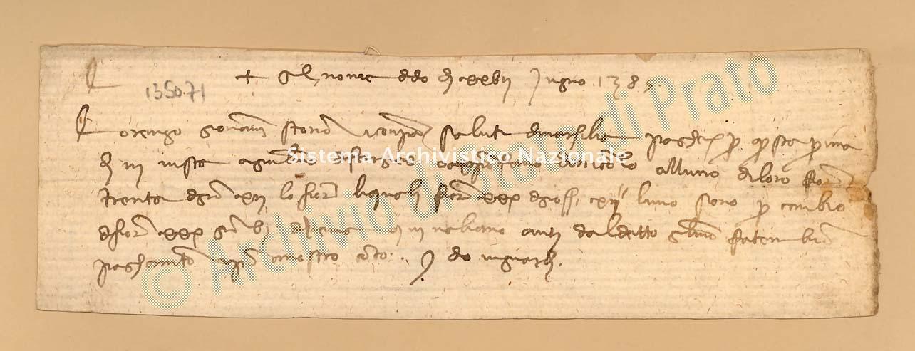 Archivio di Stato di Prato, Fondo Datini, Carteggio specializzato, Lettere di cambio, Fondaco di Avignone, Proveniente Da Marsiglia (busta 1142, inserto 131, codice 135071)