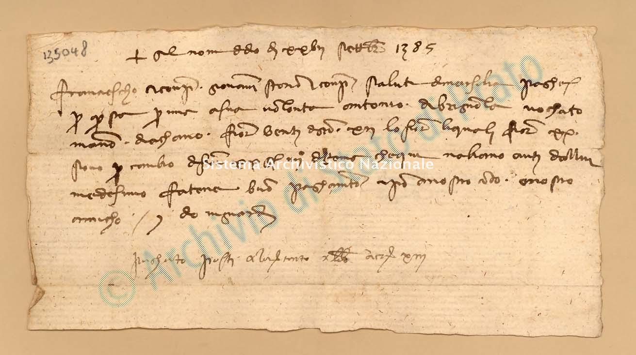 Archivio di Stato di Prato, Fondo Datini, Carteggio specializzato, Lettere di cambio, Fondaco di Avignone, Proveniente Da Marsiglia (busta 1142, inserto 130, codice 135048)