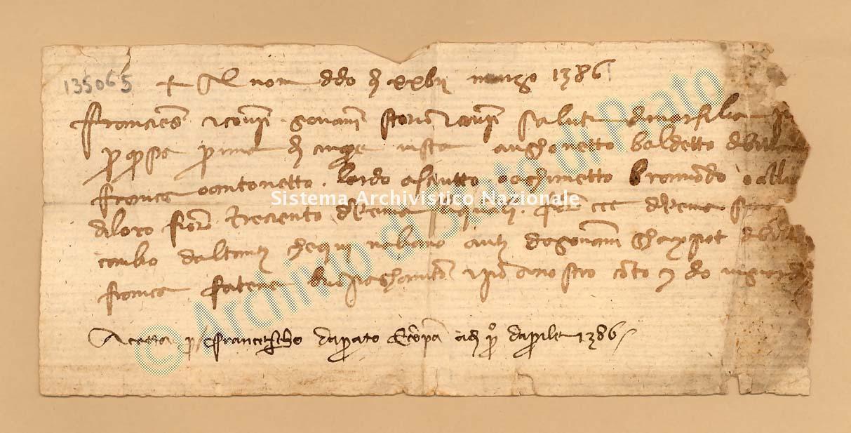 Archivio di Stato di Prato, Fondo Datini, Carteggio specializzato, Lettere di cambio, Fondaco di Avignone, Proveniente Da Marsiglia (busta 1142, inserto 130, codice 135065)