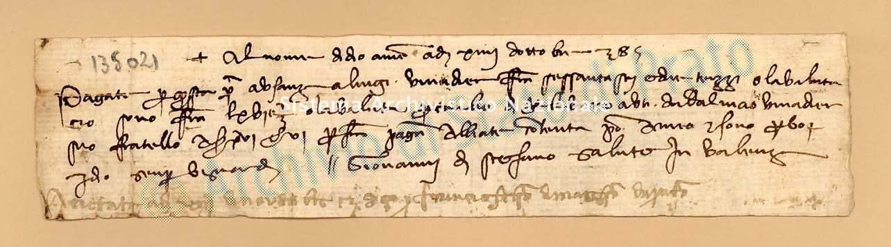 Archivio di Stato di Prato, Fondo Datini, Carteggio specializzato, Lettere di cambio, Fondaco di Avignone, Proveniente Da Valenza (busta 1142, inserto 192, codice 135021)