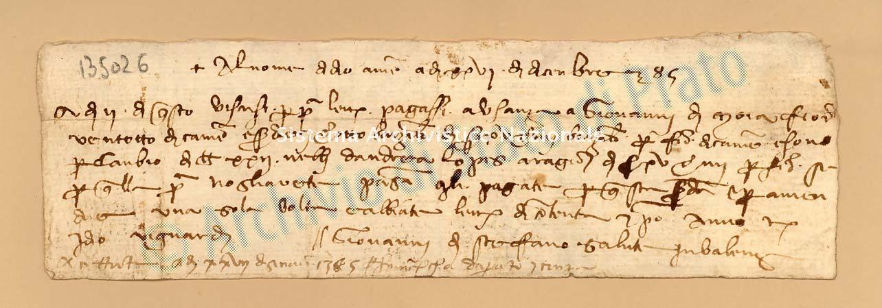 Archivio di Stato di Prato, Fondo Datini, Carteggio specializzato, Lettere di cambio, Fondaco di Avignone, Proveniente Da Valenza (busta 1142, inserto 192, codice 135026)