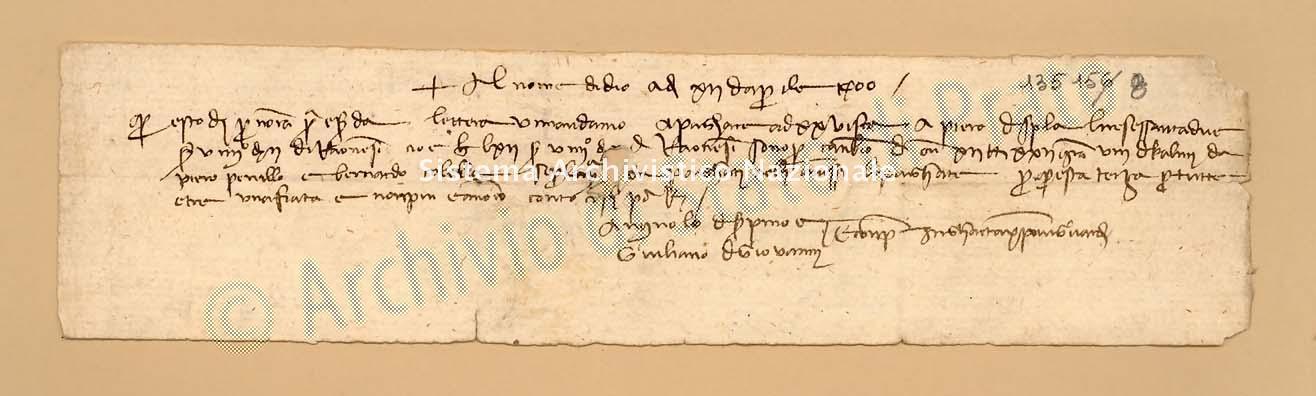 Archivio di Stato di Prato, Fondo Datini, Carteggio specializzato, Lettere di cambio, Fondaco di Barcellona, Proveniente Da Gaeta (busta 1145.02, inserto 1, codice 135158)