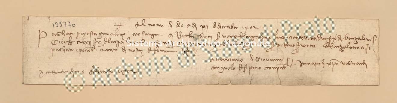 Archivio di Stato di Prato, Fondo Datini, Carteggio specializzato, Lettere di cambio, Fondaco di Barcellona, Proveniente Da Napoli (busta 1145.03, inserto 1, codice 135770)
