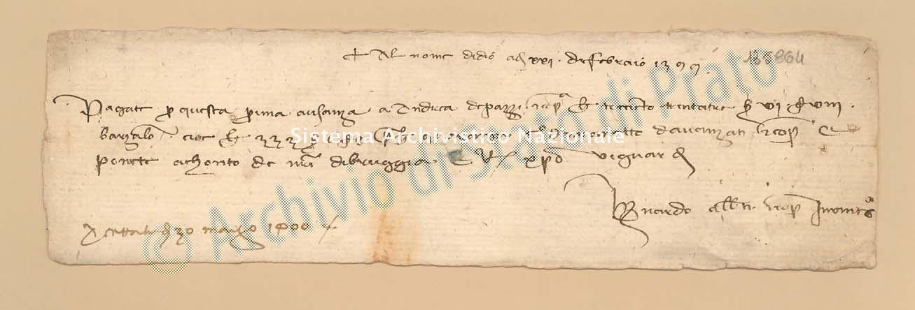 Archivio di Stato di Prato, Fondo Datini, Carteggio specializzato, Lettere di cambio, Fondaco di Barcellona, Proveniente Da Venezia (busta 1145.03, inserto 223, codice 135864)