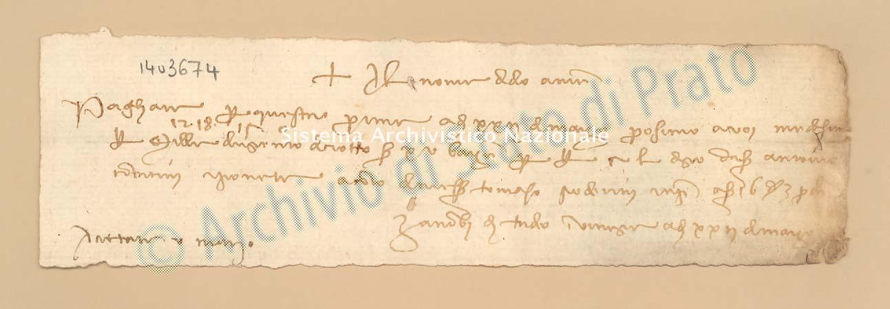 Archivio di Stato di Prato, Fondo Datini, Carteggio specializzato, Lettere di cambio, Fondaco di Barcellona, Proveniente Da Venezia (busta 1145.03, inserto 245, codice 1403674)