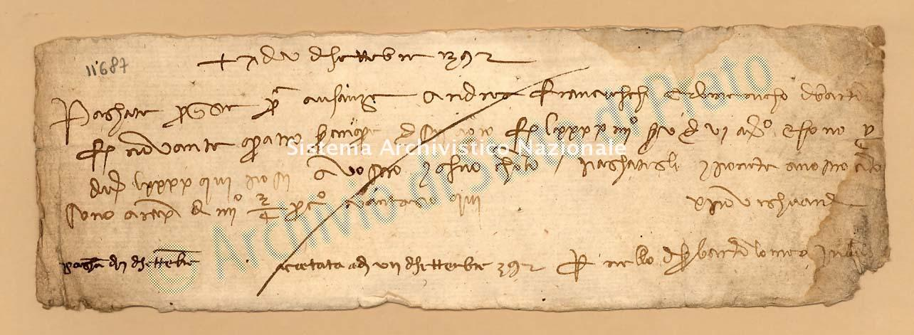 Archivio di Stato di Prato, Fondo Datini, Carteggio specializzato, Lettere di cambio, Fondaco di Firenze, Proveniente Da Bologna (busta 1142, inserto 57, codice 11687)