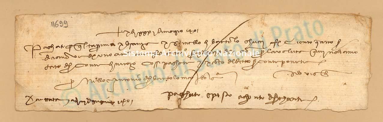Archivio di Stato di Prato, Fondo Datini, Carteggio specializzato, Lettere di cambio, Fondaco di Firenze, Proveniente Da Bologna (busta 1142, inserto 58, codice 11699)