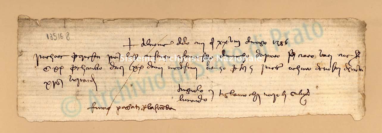 Archivio di Stato di Prato, Fondo Datini, Carteggio specializzato, Lettere di cambio, Fondaco di Firenze, Proveniente Da Napoli (busta 1142, inserto 140, codice 135168)