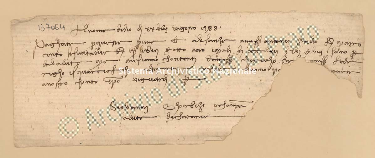 Archivio di Stato di Prato, Fondo Datini, Carteggio specializzato, Lettere di cambio, Fondaco di Genova, Proveniente Da Catania (busta 1144, inserto 103, codice 137064)