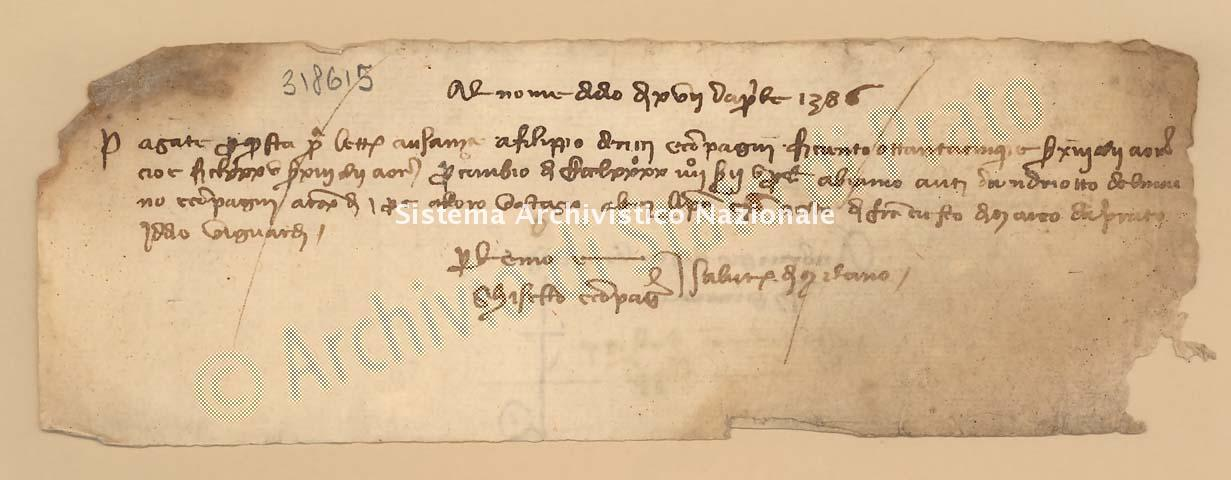 Archivio di Stato di Prato, Fondo Datini, Carteggio specializzato, Lettere di cambio, Fondaco di Genova, Proveniente Da Milano (busta 1144, inserto 196, codice 318615)