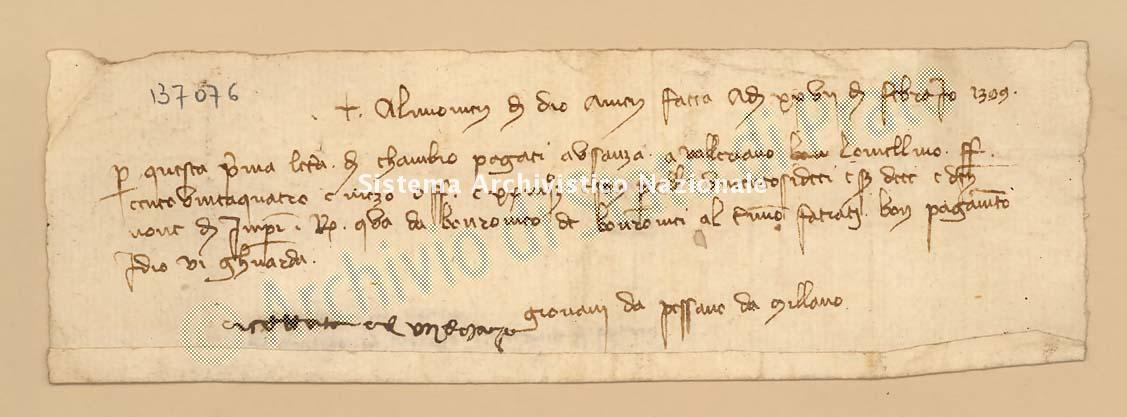 Archivio di Stato di Prato, Fondo Datini, Carteggio specializzato, Lettere di cambio, Fondaco di Genova, Proveniente Da Milano (busta 1144, inserto 198, codice 137076)