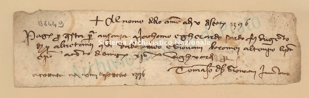 Archivio di Stato di Prato, Fondo Datini, Carteggio specializzato, Lettere di cambio, Fondaco di Genova, Proveniente Da Milano (busta 1144, inserto 200, codice 136449)