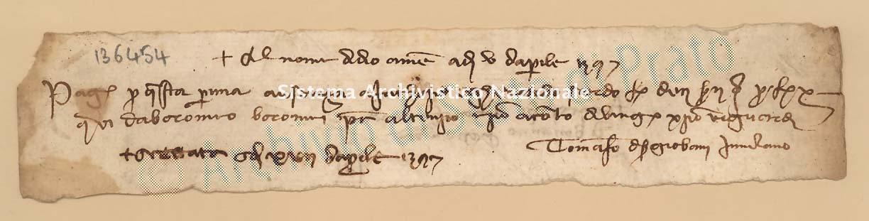 Archivio di Stato di Prato, Fondo Datini, Carteggio specializzato, Lettere di cambio, Fondaco di Genova, Proveniente Da Milano (busta 1144, inserto 200, codice 136454)