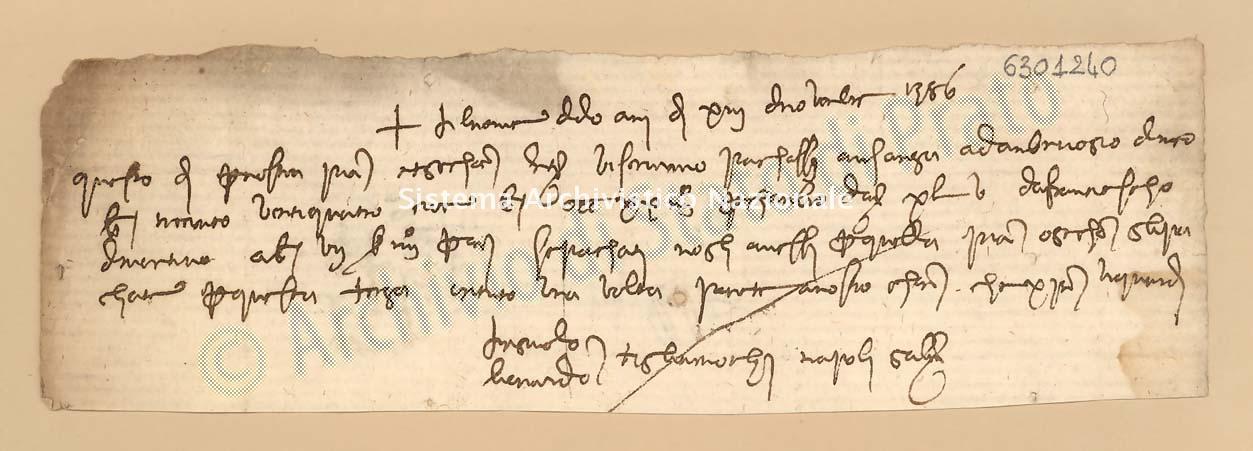 Archivio di Stato di Prato, Fondo Datini, Carteggio specializzato, Lettere di cambio, Fondaco di Genova, Proveniente Da Napoli (busta 1144, inserto 230, codice 6301240)