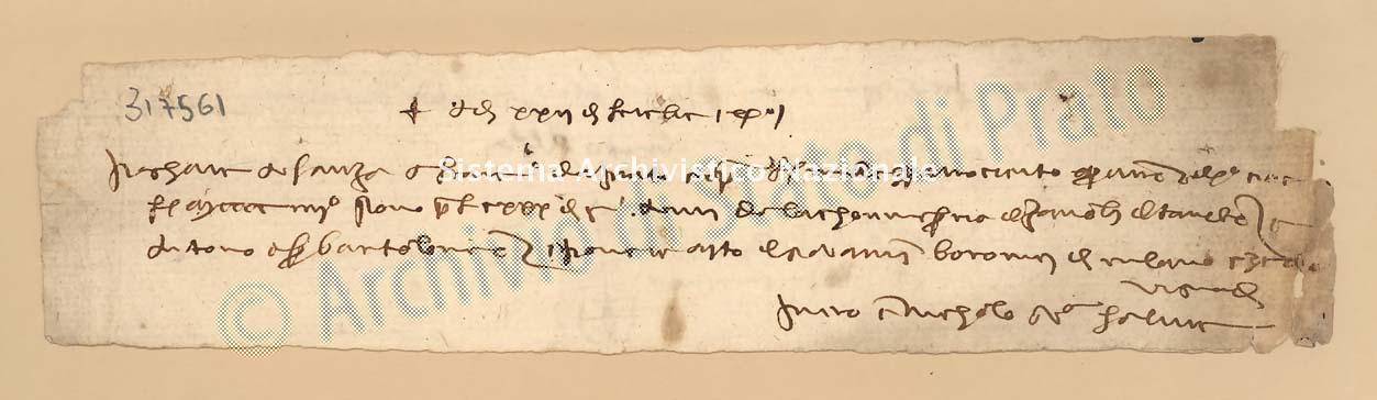 Archivio di Stato di Prato, Fondo Datini, Carteggio specializzato, Lettere di cambio, Fondaco di Genova, Proveniente Da Venezia (busta 1144, inserto 318, codice 317561)