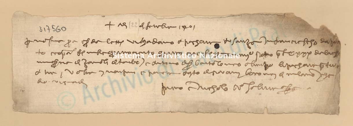 Archivio di Stato di Prato, Fondo Datini, Carteggio specializzato, Lettere di cambio, Fondaco di Genova, Proveniente Da Venezia (busta 1144, inserto 318, codice 317560)