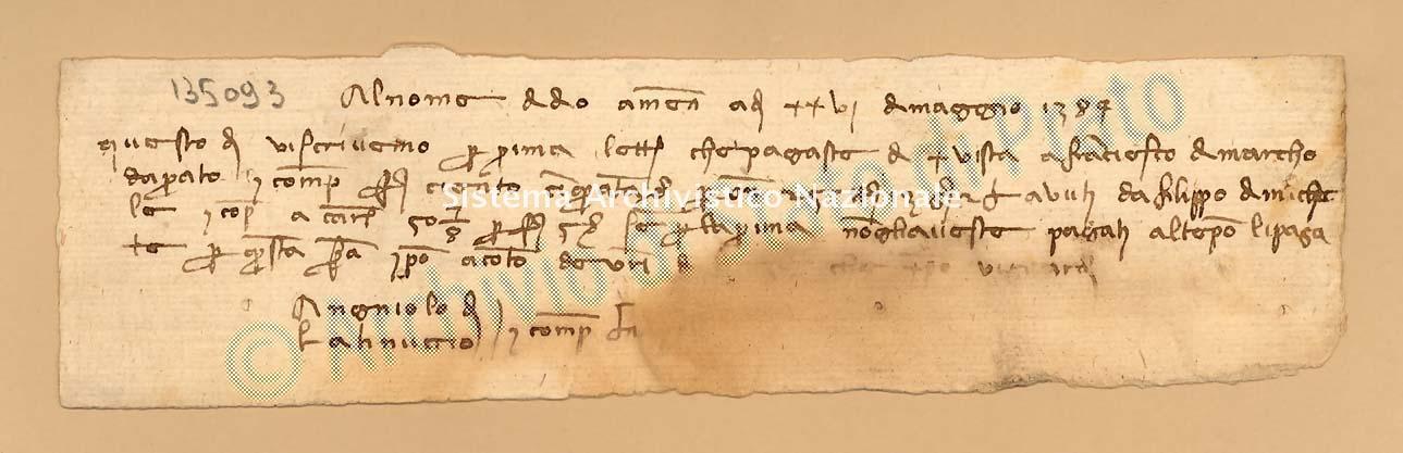 Archivio di Stato di Prato, Fondo Datini, Carteggio specializzato, Lettere di cambio, Fondaco di Pisa, Proveniente Da Napoli (busta 1143, inserto 151, codice 135093)