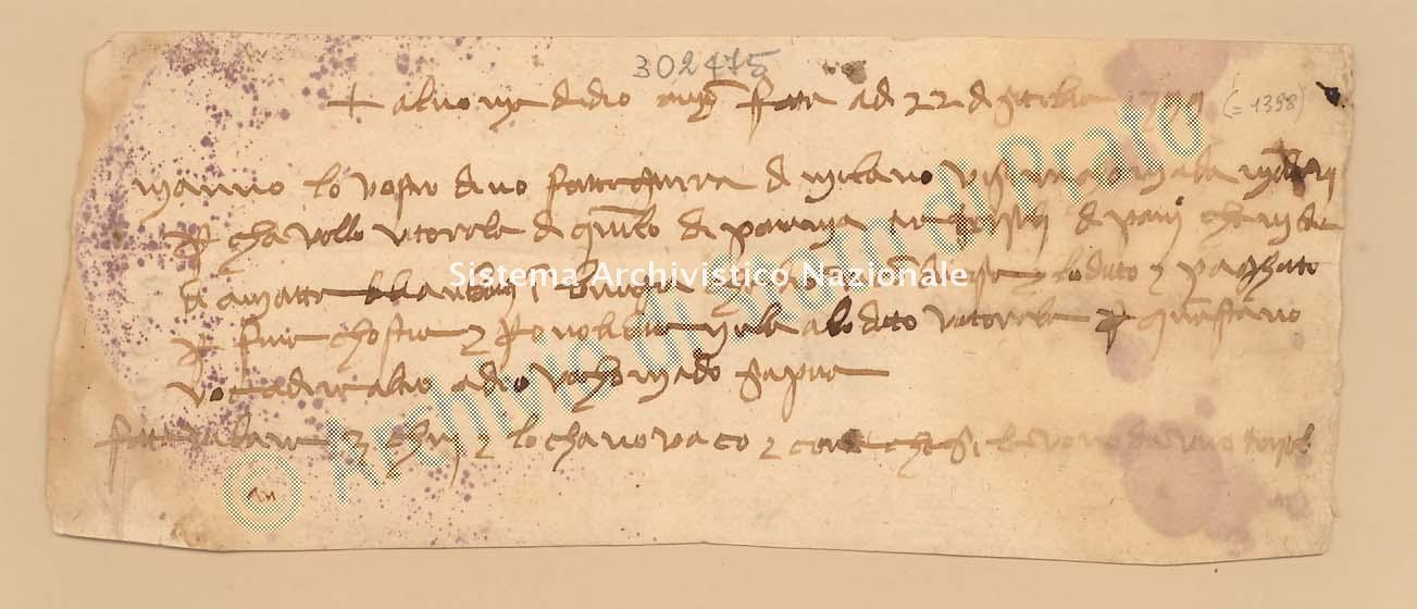 Archivio di Stato di Prato, Fondo Datini, Carteggio specializzato, Ricevute e mandati di mercanzia, Fondaco di Pisa, Proveniente Da Milano (busta 1152.02, inserto 28, codice 302475)