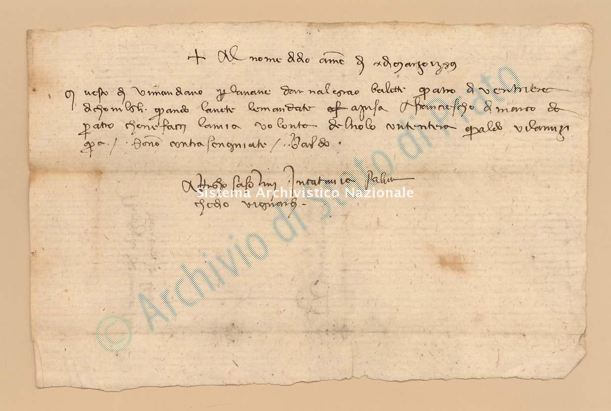Archivio di Stato di Prato, Fondo Datini, Carteggio specializzato, Ricevute e mandati di mercanzia, Fondaco non indicato, Proveniente Da Catania (busta 1152.05, inserto 4, codice 128260)