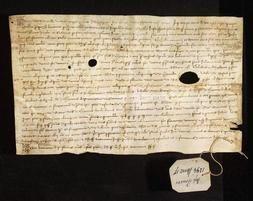 Archivio di Stato di Firenze, Diplomatico, 1294 Marzo 17, Deposito Peruzzi
