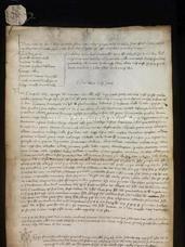 Archivio di Stato di Firenze, Diplomatico, 1361 Giugno 10, R. A. Fabbrini