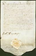 Archivio di Stato di Perugia - Comune di Perugia - Diplomatico - 1225 - Originale - Gregorio Nari modera linibizione in una causa tra la città di Perugia e il Collegio del Macello.-1629, marzo 13