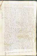 Archivio di Stato di Perugia - Comune di Perugia - Diplomatico - 1752 - Originale - Riformanze in cui il sindaco del comune di Perugia, Benvenuto Diotesalvi, indica le somme versate a diversi cittadini di Arezzo.-1283, novembre 5 - 15