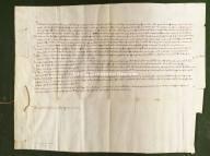 Archivio di Stato di Perugia - Comune di Perugia - Diplomatico - 0238 - Originale - Andrea Dandolo, doge di Venezia, si fa portavoce della causa che Pietro Falerio ha intrapreso contro i perugini per il pagamento del suo salario come magistrato del comune di Perugia. Informa infatti i magistrati perugini che i contratti, in cui era stabilito il salario, sono tutti stati presentati per la causa e che, se i perugini avessero qualcosa da dedurre, lo comunichino.-1351, marzo 18
