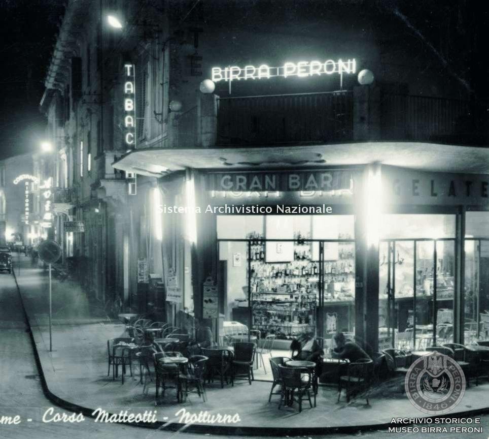Birra Peroni, Gran Bar, Montecatini Terme 1960