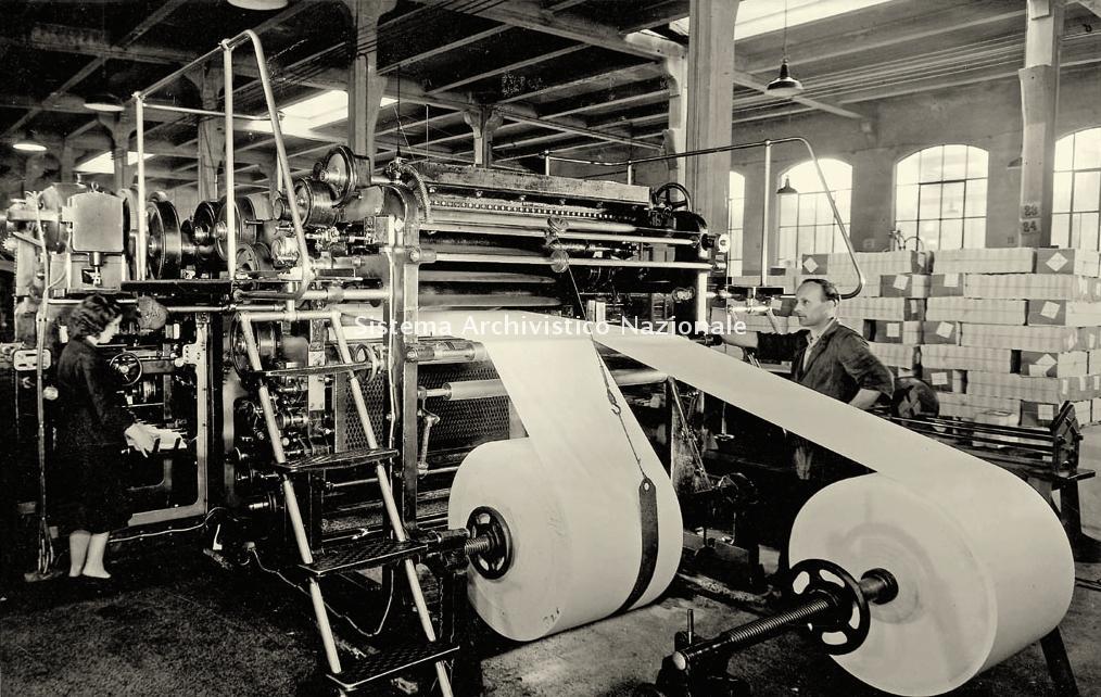 Mondadori, macchina per la stampa Offset, anni '50