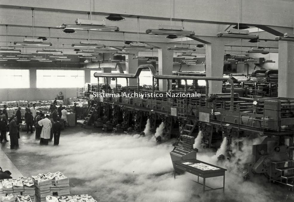 Mondadori, visita agli stabilimenti, anni '50