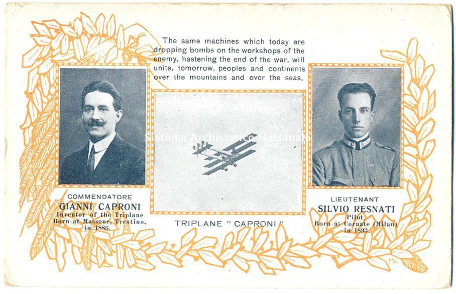Gianni Caproni e Silvio Resnati, 1915 ca