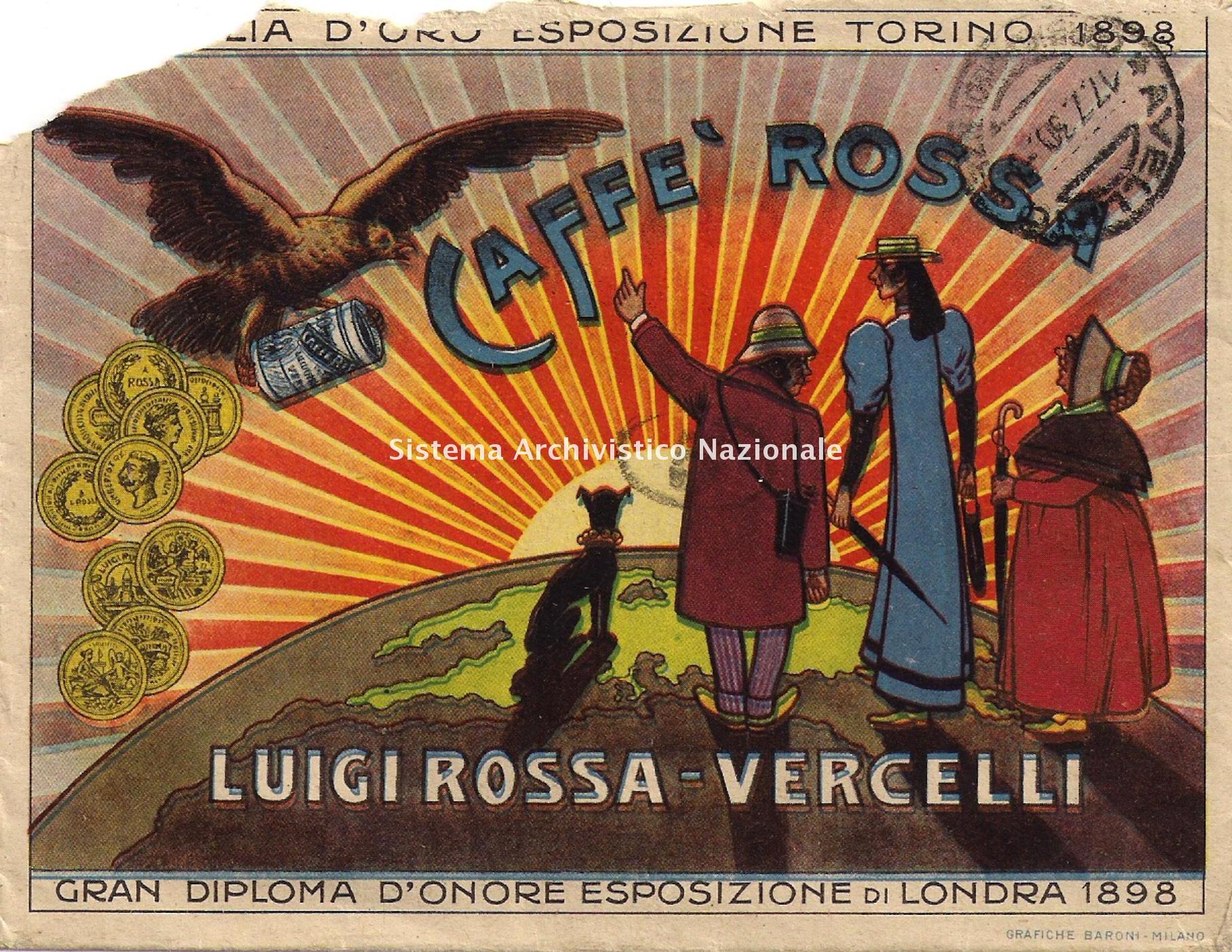 Fabbrica di caffe' Rossa, Vercelli 1930