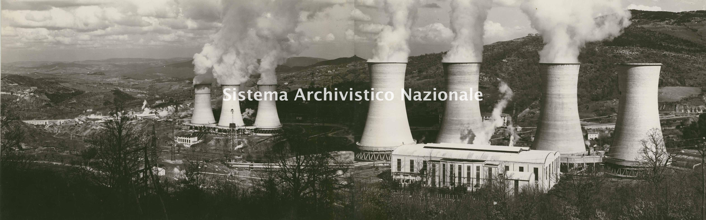 Enel, veduta delle centrali n. 2 e n. 3 a Larderello, 1960-1970