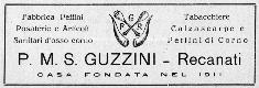 Fratelli Guzzini, etichetta,1938