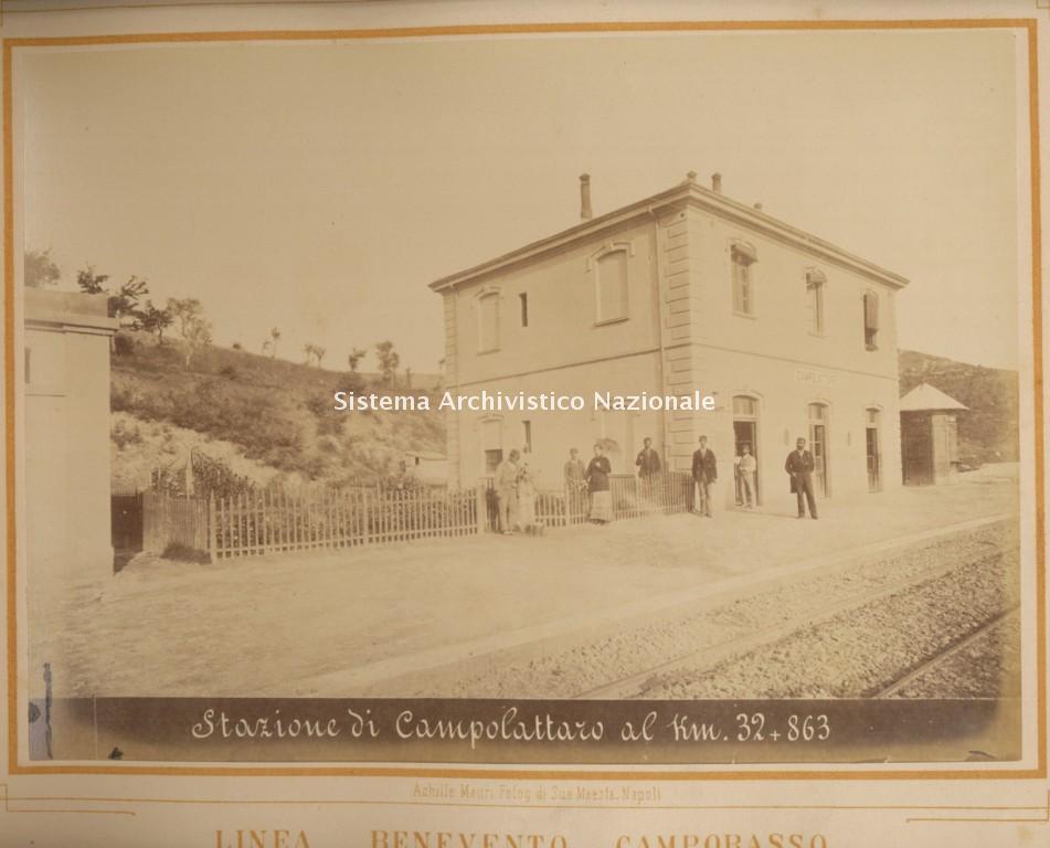 Stazione ferroviaria di Campolattaro, Benevento 1883