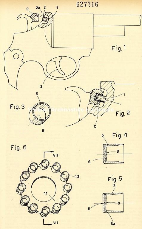 Giampiero Ferri e Jori Marinai, brevetto per capsule fulminanti, Firenze 1961