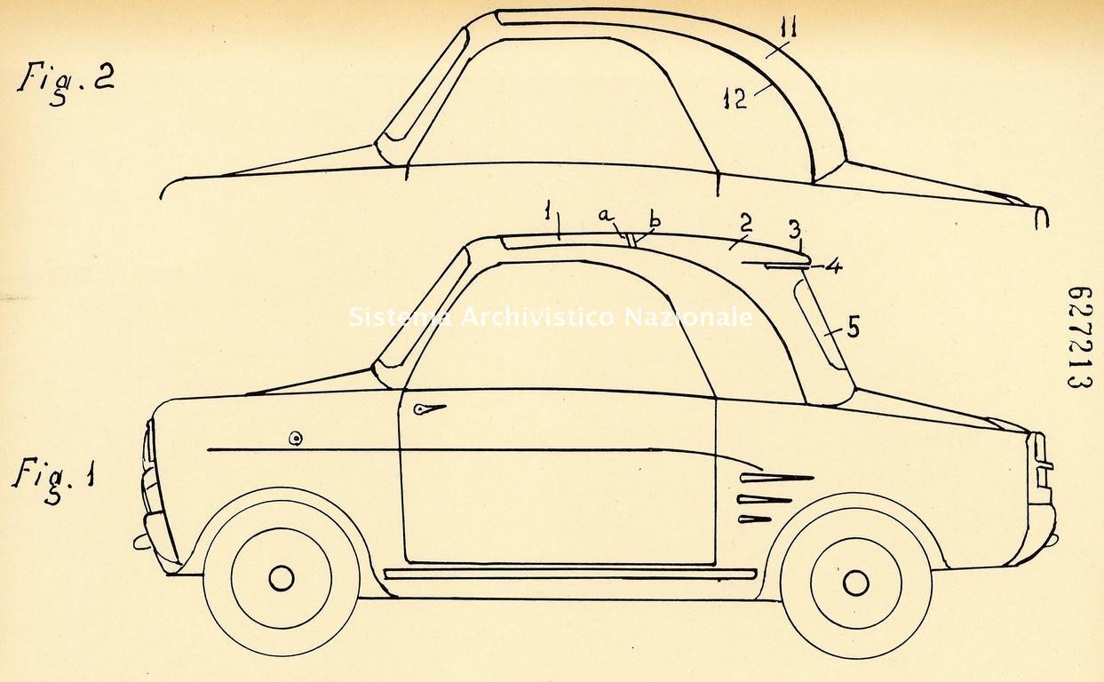 Pieralisi-Feliciani-Galassi sarl, brevetto di una coperta per autoveicoli, Fabriano 1961