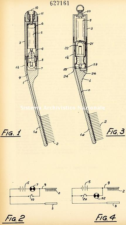 Texmar spa, brevetto di uno spazzolino da denti elettrico, Milano 1961