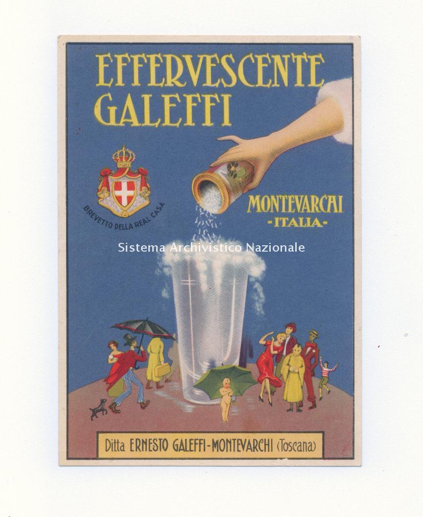 Effervescente Galeffi, cartolina pubblicitaria d'epoca, sec. XX