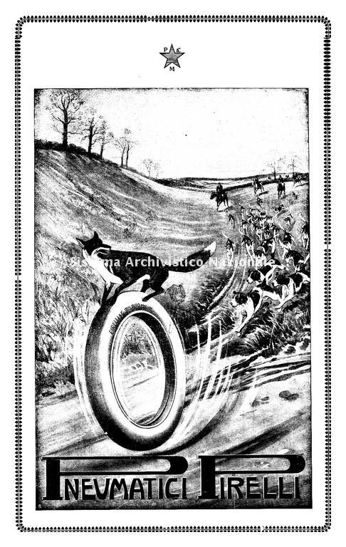 Pneumatici Pirelli, immagine pubblicitaria, 1917