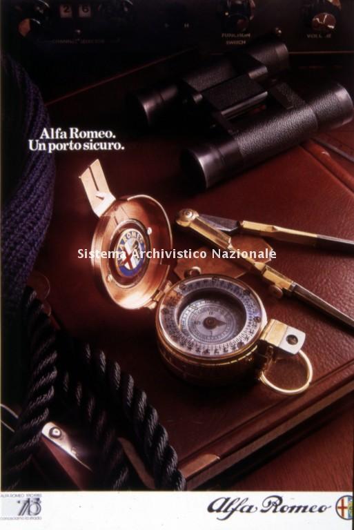Alfa Romeo, immagine pubblicitaria, 1980