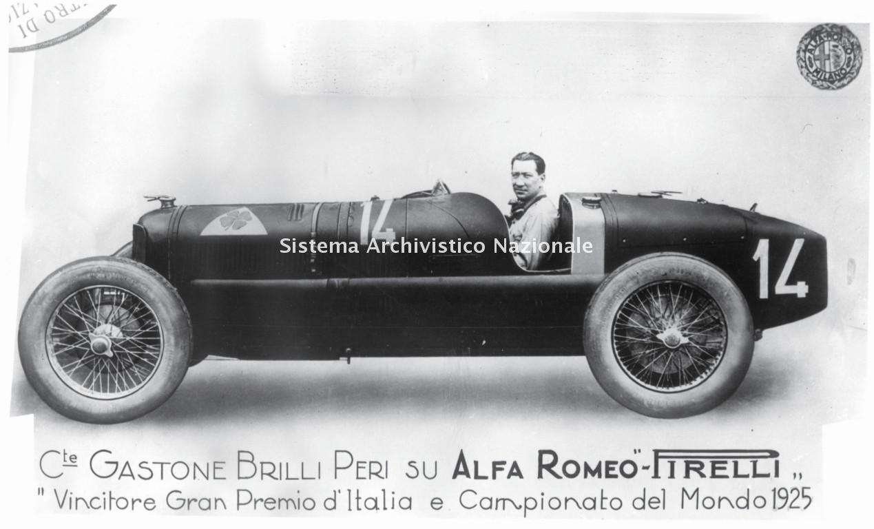 Alfa Romeo, immagine pubblicitaria, 1925