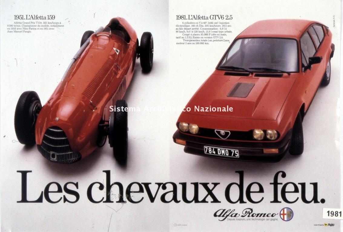 Alfa Romeo, immagine pubblicitaria per il mercato francese, 1981