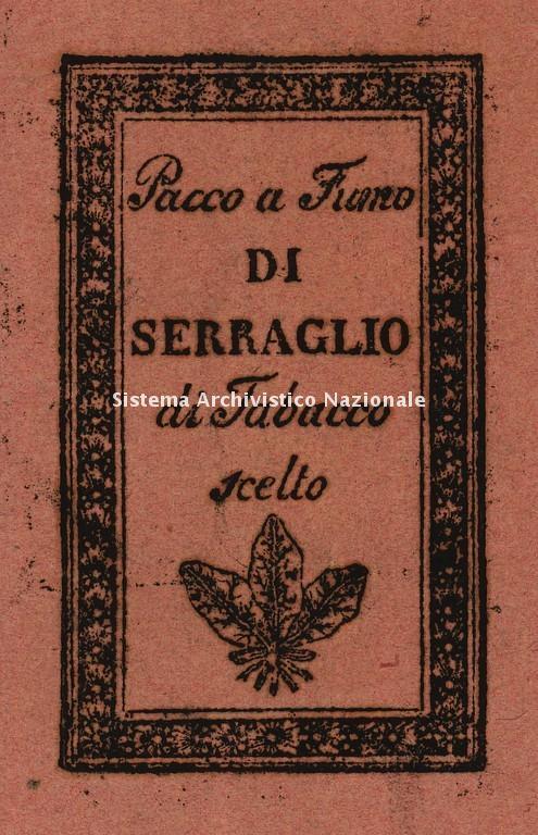 Marchio di tabacco importato nello Stato di Milano, 1772